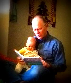 Grandpa and Linus Reading Together